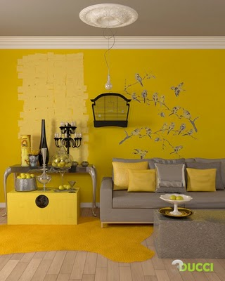 Yellow Feature Wall. Top If Youure Bold Enough To Try Them Keep Them ...